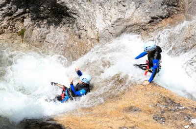 2-Tage Fun-in-Nature-Tour (Ganztagesrafting & Canyoningtour)